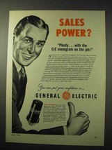1950 General Electric Tubes Ad - Sales Power? - $14.99