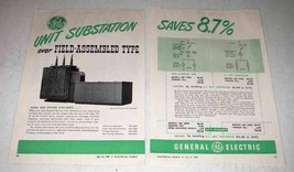 1950 General Electric Unit Substation Ad - Saves 8.7% - $14.99