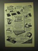 1950 Kodak Darkroom Equipment Ad - Get the Most - $14.99