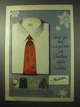 1950 Manhattan Shirt Ad - Spread Good Cheer - $14.99