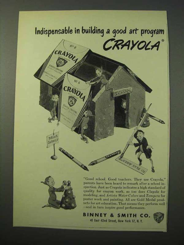 1951 Crayola Crayons Ad - Building a Good Art Program - $14.99