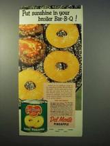1951 Del Monte Pineapple Ad - Sunshine Broiler Bar-B-Q - $14.99