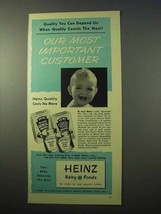 1951 Heinz Baby Food Ad - Our Most Important Customer - $14.99