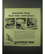 1951 Reynolds Wrap Ad - These Food-Time-Work-Savers - $14.99
