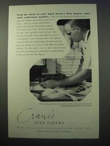1952 Crane's Fine Papers Ad - From Our Hand To Your - $14.99
