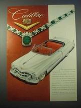 1953 Cadillac Convertible Car Ad - $14.99