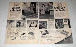 1953 Kodak Ad - Catch With Flash, Enlarge for Thrills - $14.99