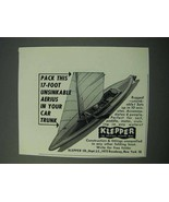 1953 Klepper 17-Foot Unsinkable Aerius Folding Boat Ad - $14.99