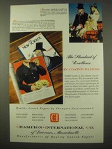 1954 Champion-International Paper Ad - Excellence - $14.99