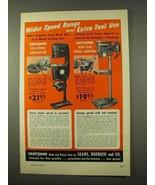 1954 Craftsman Band Saw, Drill Press Ad - Wider Speed - $14.99