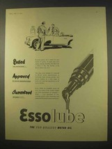 1954 Esso Essolube Motor Oil Ad - Approved - $14.99
