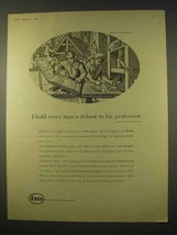 1954 Esso Oil Ad - Every Man a Debtor to His Profession - $14.99