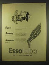 1954 Esso Essolube Motor Oil Ad - Sealed, Approved - $14.99