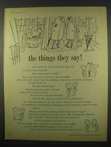 1956 Imperial Chemical Industries Ad - The Things They Say - $14.99