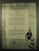 1956 IBM Executive Electric Typewriter Ad - Difference - $14.99