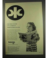 1956 Kimberly-Clark Paper Ad - About Everyone Uses - $14.99