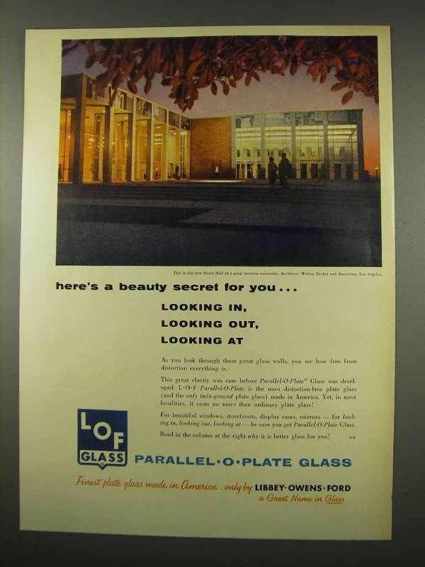 1956 Libbey Owens Ford Glass Ad - Beauty Secret - $14.99