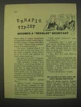 1954 Kellogg's All-Bran Cereal Ad - Erratic Typist - $14.99