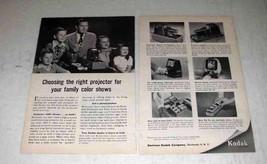 1954 Kodak Kodaslide Highlux III, Economy Projector Ad - $14.99