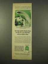 1954 Quaker State Motor Oil Ad - Rich Super Film - $14.99