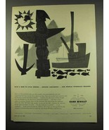 1956 Rand McNally Maps Ad - Bow to Vitus Bering - $14.99