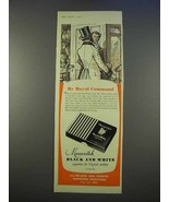 1955 Marcovitch Black and White Cigarettes Ad - Royal - $14.99
