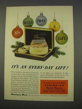 1955 Remington 60 DeLuxe Electric Shaver Ad - $14.99