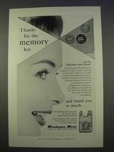 1955 Remington Rand Printing Calculator Ad - Memory Key - $14.99