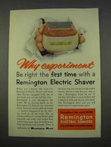 1955 Remington 60 Deluxe Shaver Ad - Why Experiment - $14.99