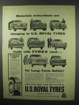 1960 U.S. Royal Tires Ad - Motorists Everywhere - $14.99