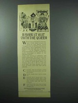 1960 Wrigley's Gum Ad - Having it Out With The Queen - $14.99