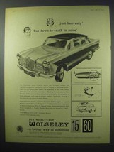 1960 Wolseley 15-60 Car Ad - Just Heavenly! - $14.99