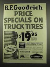 1956 B.F. Goodrich Truck Tires Ad - Price Specials - $14.99