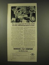 1956 Bankers Life Company Ad - Back To Work - $14.99
