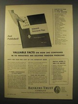 1956 Bankers Trust Company Ad - Pension Problems - $14.99
