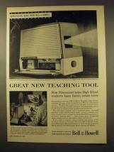 1956 Bell & Howell Filmosound 385 Projector Ad - Teaching Tool - $14.99