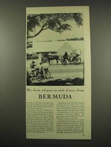 1956 Bermuda Tourism Ad - Her Charm and Grace - $14.99