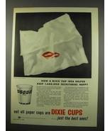 1956 Dixie Cup Ad - Helped Keep Secretaries Happy - $14.99