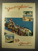 1956 Grace Line Cruise Ad - Grand and Glorious - $14.99