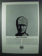 1962 Gulf Oil Ad - Mind Over Matter - $14.99