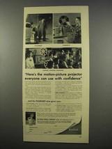 1956 Kodak Kodascope Pageant 16mm Projector Ad - $14.99