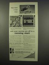 1956 Kodak Kodascope Pageant 16mm Projector Ad - Easy Steps - $14.99