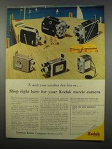 1956 Kodak Movie Camera Ad - Brownie Turret, K-100 - $14.99