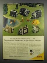 1956 Kodak Movie Camera Ad - Brownie, Medallion 8 - $14.99