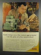 1956 Kodak Kodaslide Signet 300, Signet 35 Camera Ad - $14.99
