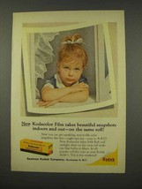 1956 Kodak Kodacolor Film Ad - Indoors and Out - $14.99
