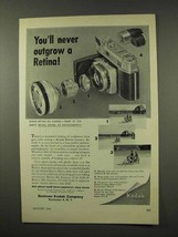 1956 Kodak Retina IIIc Camera Ad - Never Outgrow - $14.99