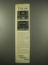 1956 Libbey Owens Ford Glass Ad - $14.99