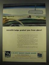 1956 Libbey Owens Ford Glass Ad - E-Z-Eye Glare - $14.99