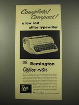 1956 Remington Rand Office-riter Typewriter Ad - $14.99